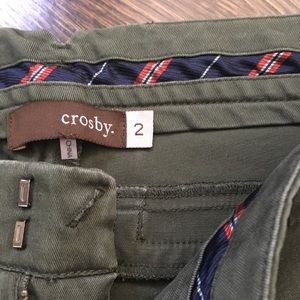 Crosby Military Green Cropped Pants
